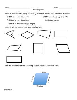 Parallelograms Work