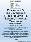 Parallels & Transversals, Angle Relations, Exterior Angle