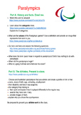 Paralympics Click and Do task