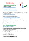 Paralympics Click and Do task