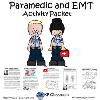 Paramedic and EMT Activity Packet and Worksheets by KP ...