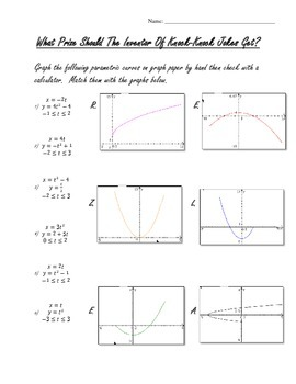 Parametric Equations Practice
