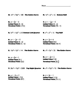 Parametric Equations Practice 2