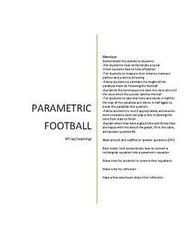 Parametric Football Activity