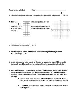 Parametric and Polar Equations Test