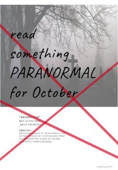 Halloween Book Display: Paranormal Literature