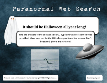 Paranormal Online Web Search