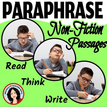 Paraphrase Activity 3 Easy Steps to Paraphrasing Non-Fiction