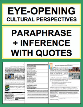 Paraphrase, Analysis & Inference Skills to Understand Other Cultures: 2 LESSONS!