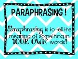 Paraphrase Review!