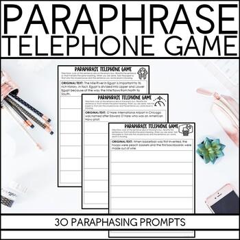 Paraphrase Telephone Game