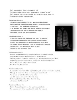 """Paraphrased version of """"The Raven"""" Ready to Print"""