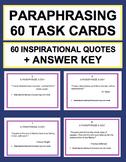 Paraphrasing Practice Task Cards