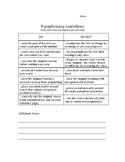Paraphrasing Guidelines