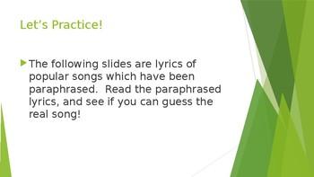 Paraphrasing Music 2