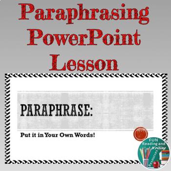 Paraphrasing PowerPoint