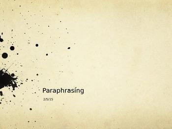 Paraphrasing Presentation