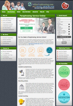 Paraphrasing Service Online