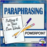 Paraphrasing - Steps to Great Paraphrasing PowerPoint Distance Learning