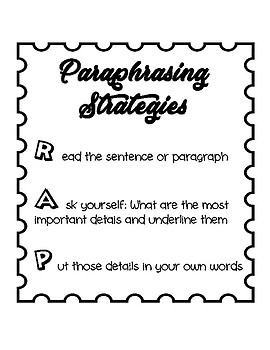 Paraphrasing Strategy