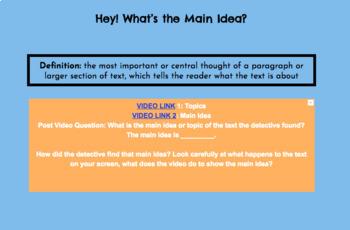 Paraphrasing, Summarizing, and Main Idea HyperDoc