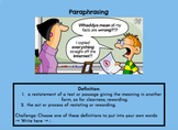 Paraphrasing, Summarizing, and Main Idea HyperDoc