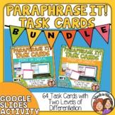 Paraphrasing Task Card Differentiation Bundle
