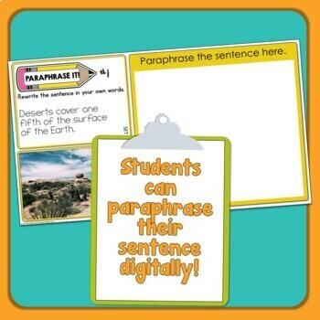 Paraphrasing Task Cards (Beginner Set for Grades 2-4)