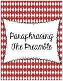Preamble Paraphrasing Worksheet