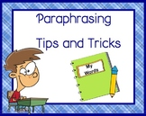 Paraphrasing Tips and Practice