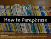 How to paraphrase: Step by step plus activities including task cards!