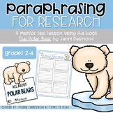 Paraphrasing for Polar Bear Research