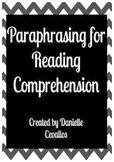 Paraphrasing for Reading Comprehension
