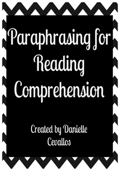 Paraphrasing for Reading Comprehension