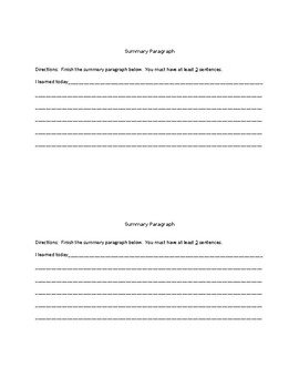 Paraphrasing vs. Summarizing/A TRTW Lesson