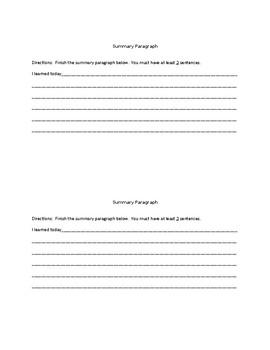 Paraphrasing vs. Summarizing/A TRTW Lesson (Without Response Essays)