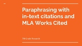 Paraphrasing with In-Text Citation