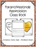 Para Paraprofessional Appreciation Opinion Class Book