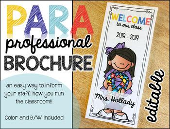 Paraprofessional Brochure {editable)