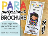 Paraprofessional Brochure {editable)