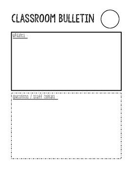 Paraprofessional Communication Everyday Bulletin
