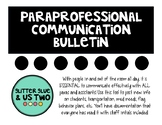 Paraprofessional Communication Everyday Bulletin