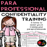 Paraprofessional Training: Confidentiality