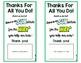 Staff Appreciation Subway Gift Cards {Freebie}