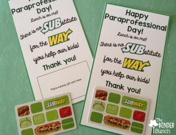 Paraprofessional Day Gift Tags {Freebie}