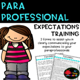Paraprofessional Training for Expectations