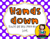 Paraprofessional Gift Tag   Hands Down