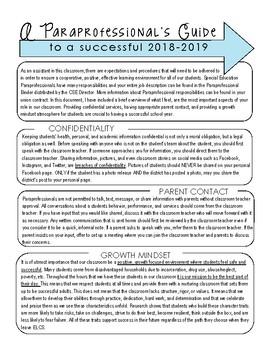 Paraprofessional Guide