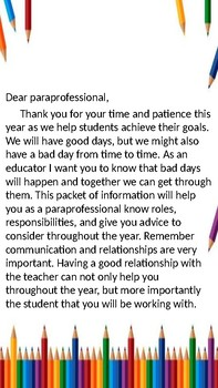 Paraprofessional Guide Booklet