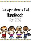 Paraprofessional Handbook for ECSE